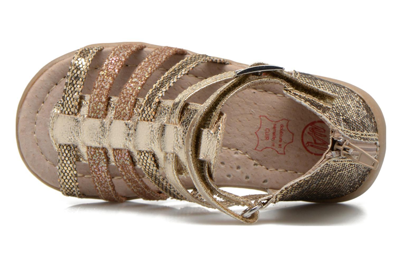 Sandales et nu-pieds NA! Anoa Or et bronze vue gauche
