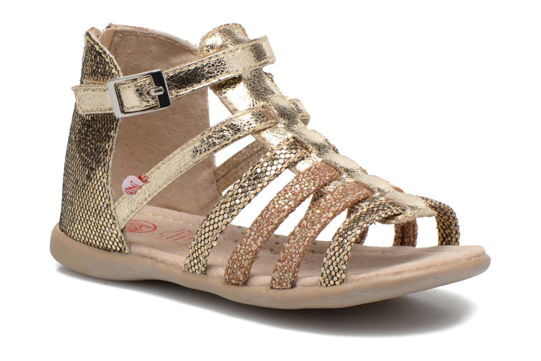 Sandales et nu-pieds NA! Anoa Or et bronze vue détail/paire