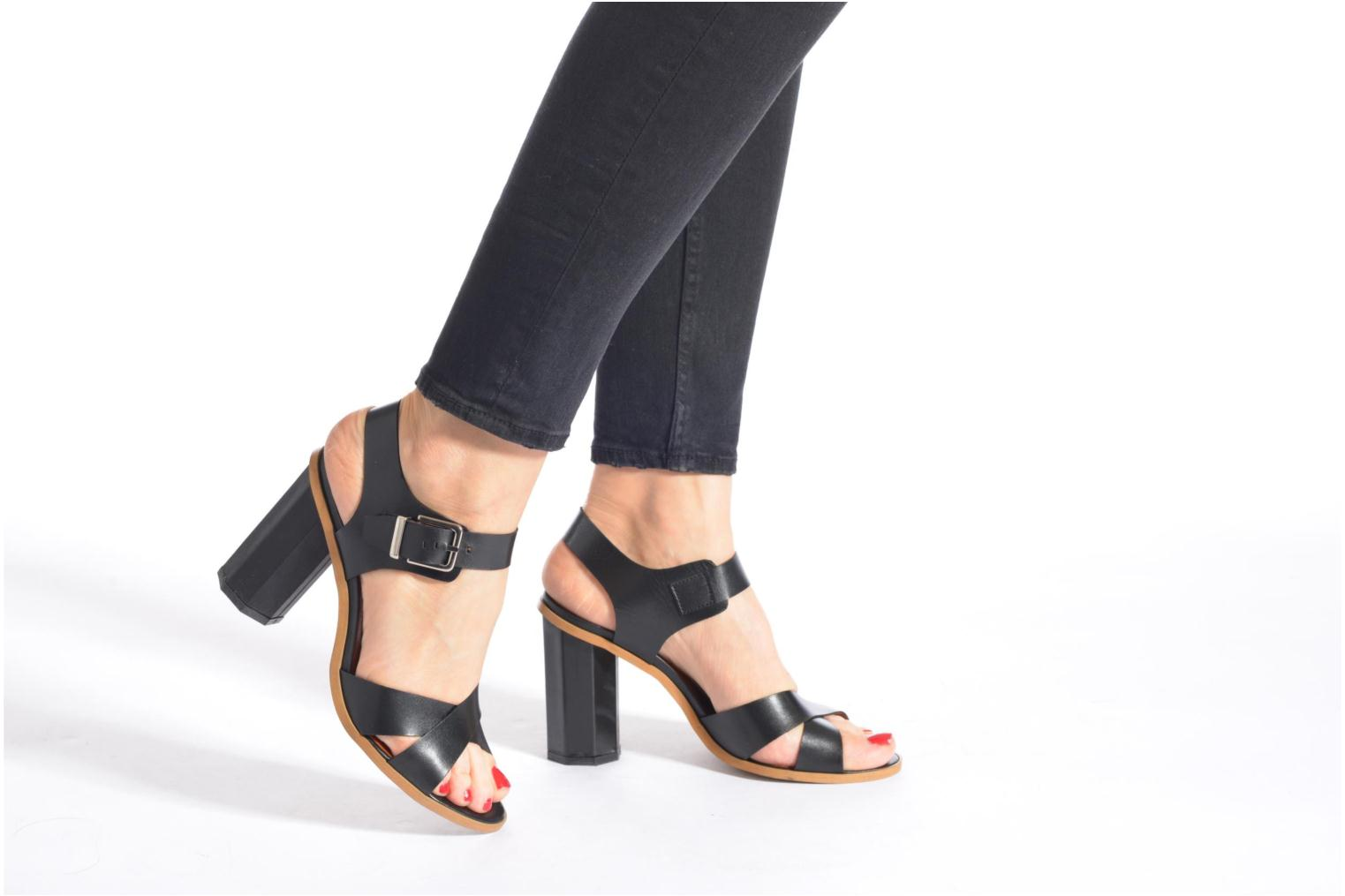 Sandals Made by SARENZA Menthe Hello #11 Black view from underneath / model view