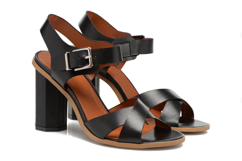 Sandalias Made by SARENZA Menthe Hello #11 Negro vista lateral derecha