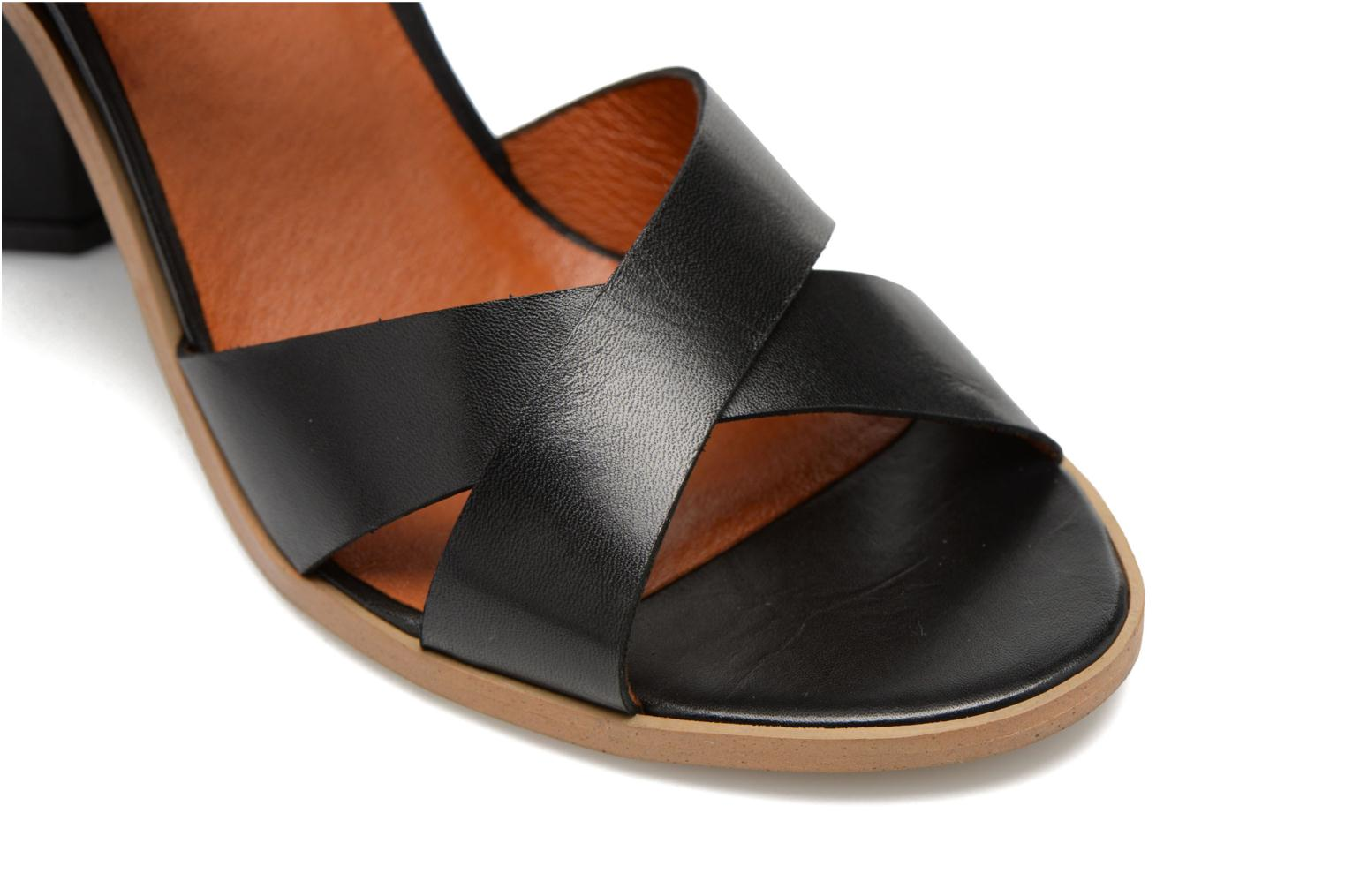 Sandals Made by SARENZA Menthe Hello #11 Black back view