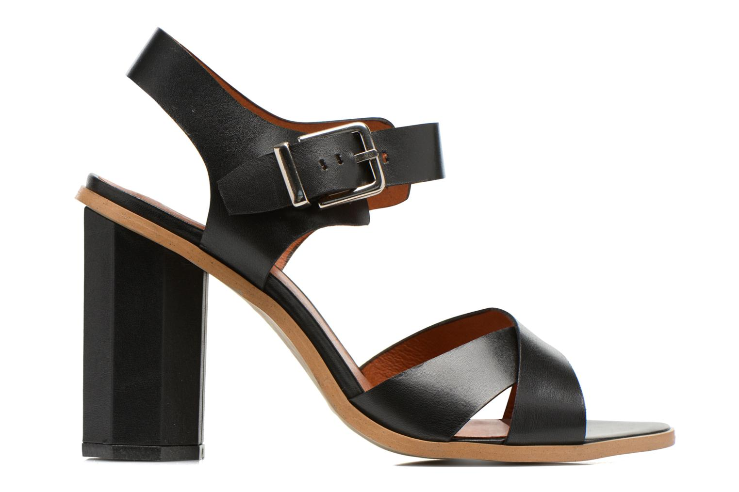 Sandals Made by SARENZA Menthe Hello #11 Black detailed view/ Pair view