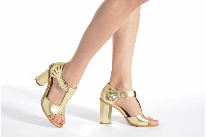 Sandales et nu-pieds Made by SARENZA Square Simone#3 Or et bronze vue bas / vue portée sac