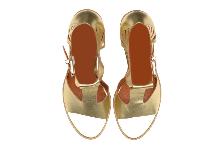 Sandales et nu-pieds Made by SARENZA Square Simone#3 Or et bronze vue portées chaussures