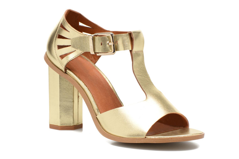 Sandales et nu-pieds Made by SARENZA Square Simone#3 Or et bronze vue droite