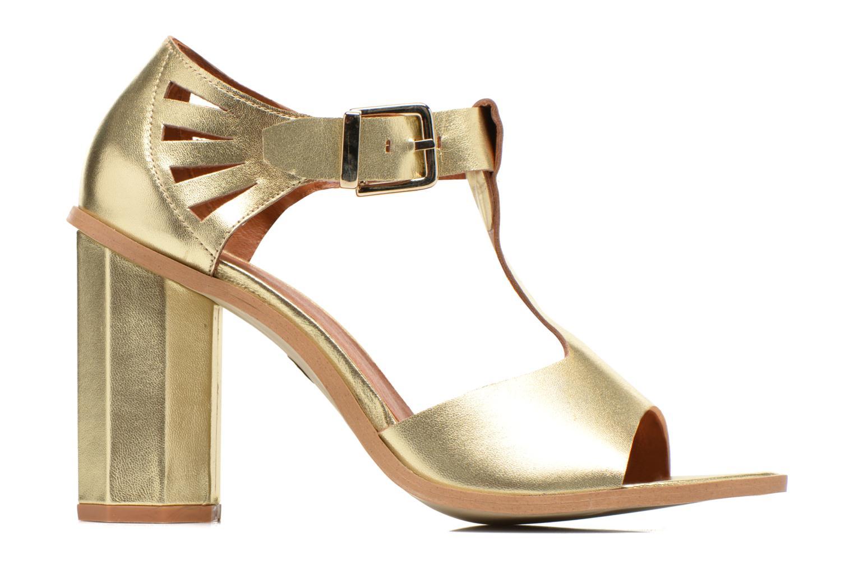 Sandales et nu-pieds Made by SARENZA Square Simone#3 Or et bronze vue détail/paire