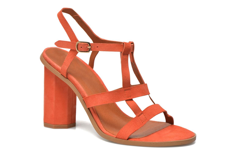 Sandales et nu-pieds Made by SARENZA Square Simone#7 Orange vue face