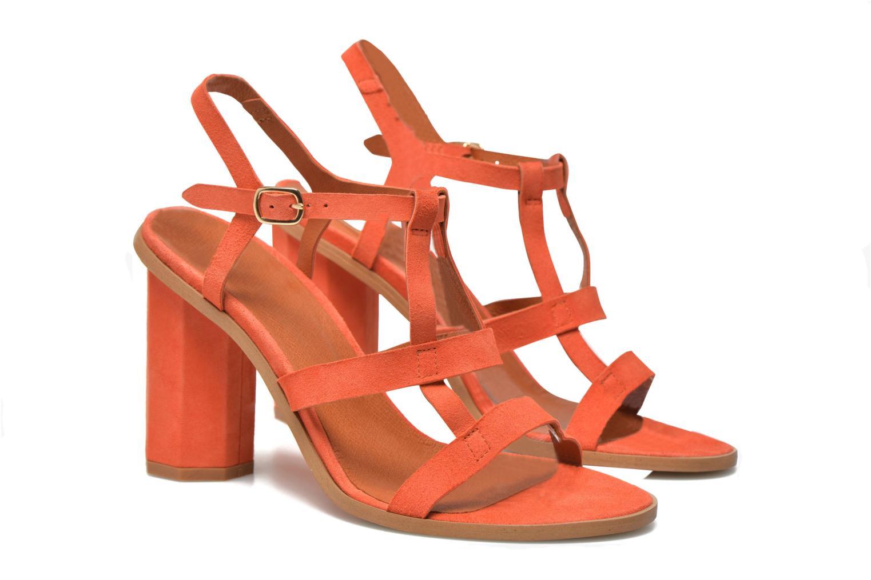 Sandales et nu-pieds Made by SARENZA Square Simone#7 Orange vue droite