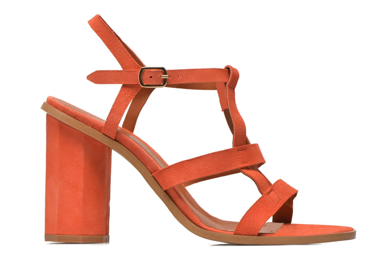 Sandales et nu-pieds Made by SARENZA Square Simone#7 Orange vue détail/paire