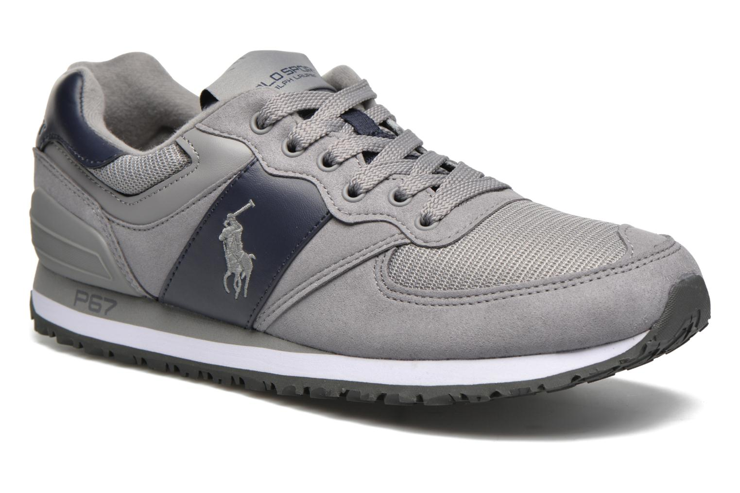 Trainers Polo Ralph Lauren Slaton Pony Grey detailed view/ Pair view