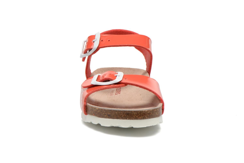 Sandales et nu-pieds Les Tropéziennes par M Belarbi Prune Rose vue portées chaussures