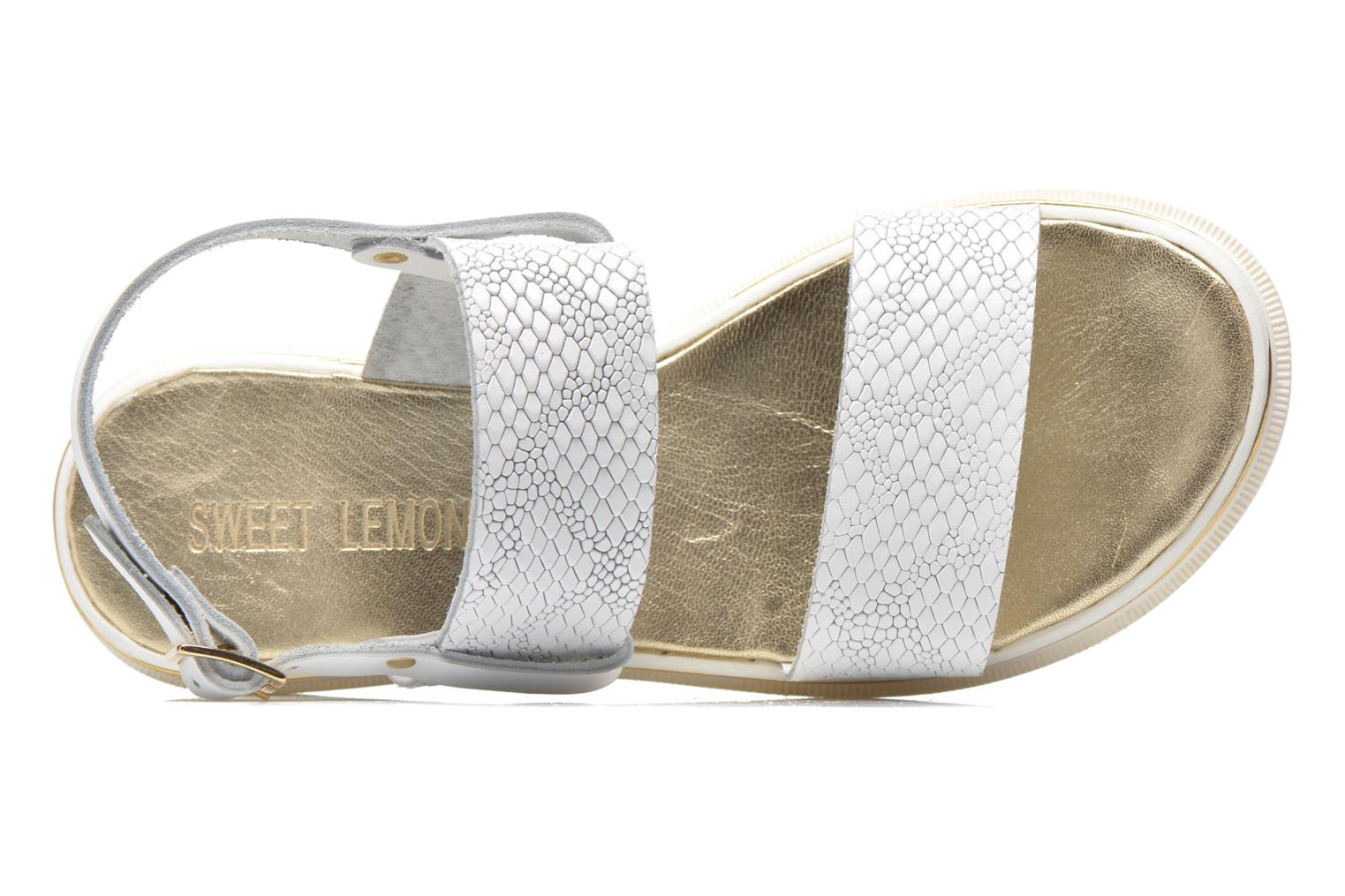 Sandals Sweet Lemon L.8 Petula White view from the left