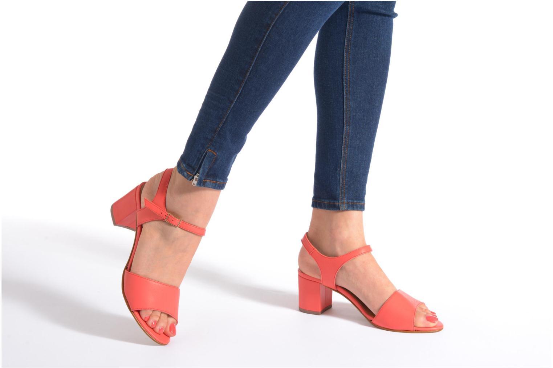 Sandales et nu-pieds Georgia Rose Lubul Orange vue bas / vue portée sac