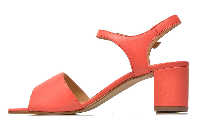 Sandales et nu-pieds Georgia Rose Lubul Orange vue face