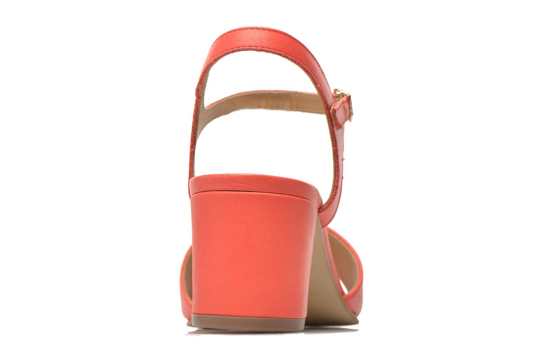 Sandales et nu-pieds Georgia Rose Lubul Orange vue droite