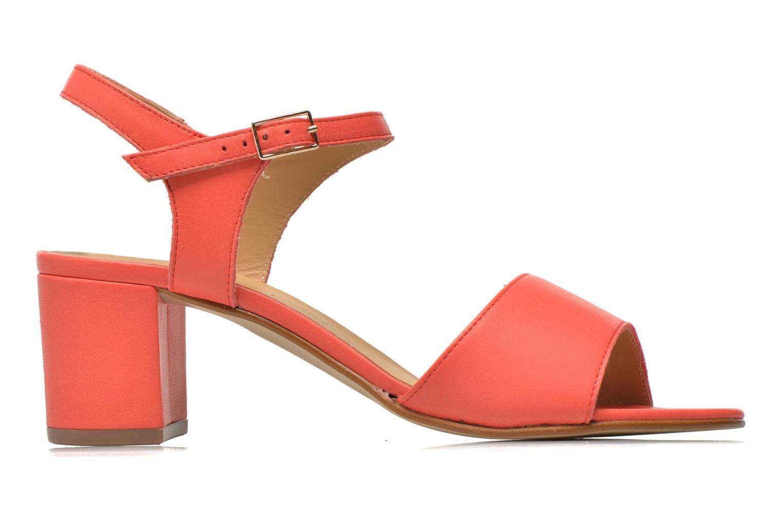 Sandales et nu-pieds Georgia Rose Lubul Orange vue derrière