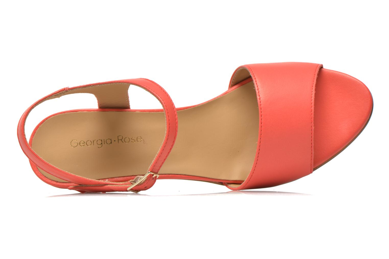 Sandales et nu-pieds Georgia Rose Lubul Orange vue gauche