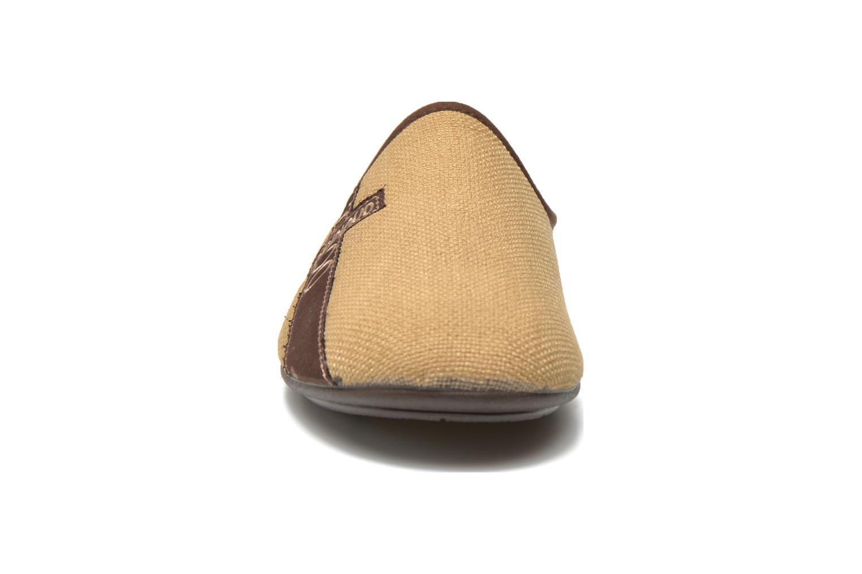 Hausschuhe Rondinaud Dragne beige schuhe getragen