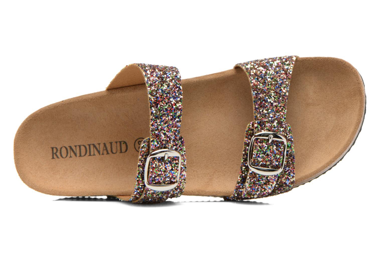 Zuecos Rondinaud Andelle Multicolor vista lateral izquierda