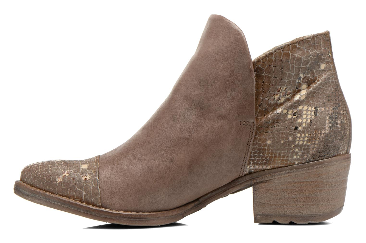 Ankle boots Khrio Cucuta Bronze and Gold front view