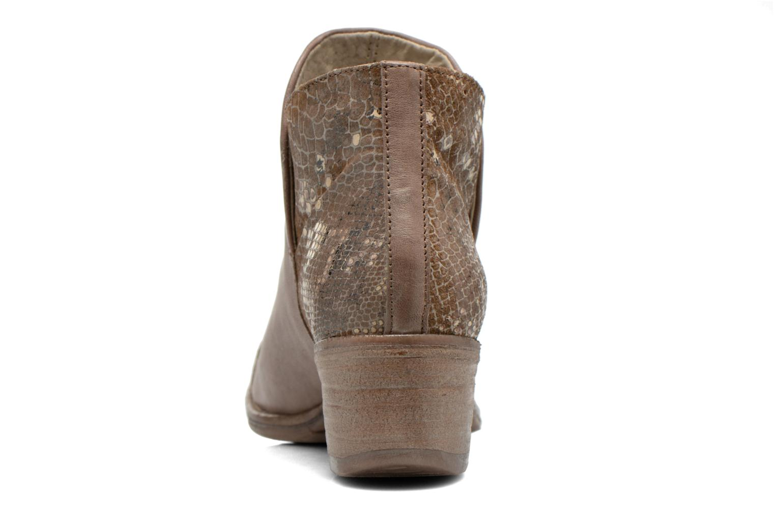 Ankle boots Khrio Cucuta Bronze and Gold view from the right