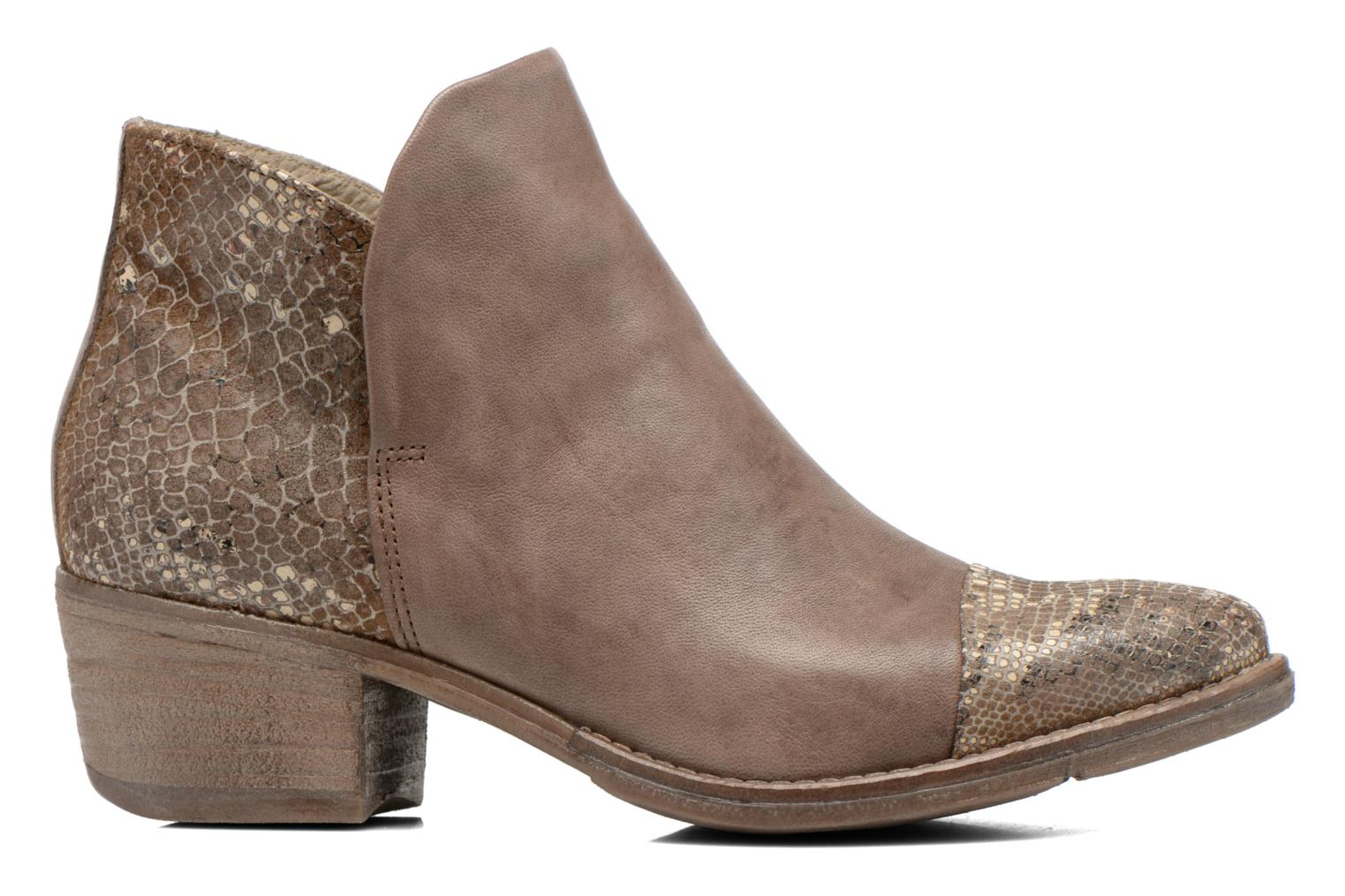 Ankle boots Khrio Cucuta Bronze and Gold back view