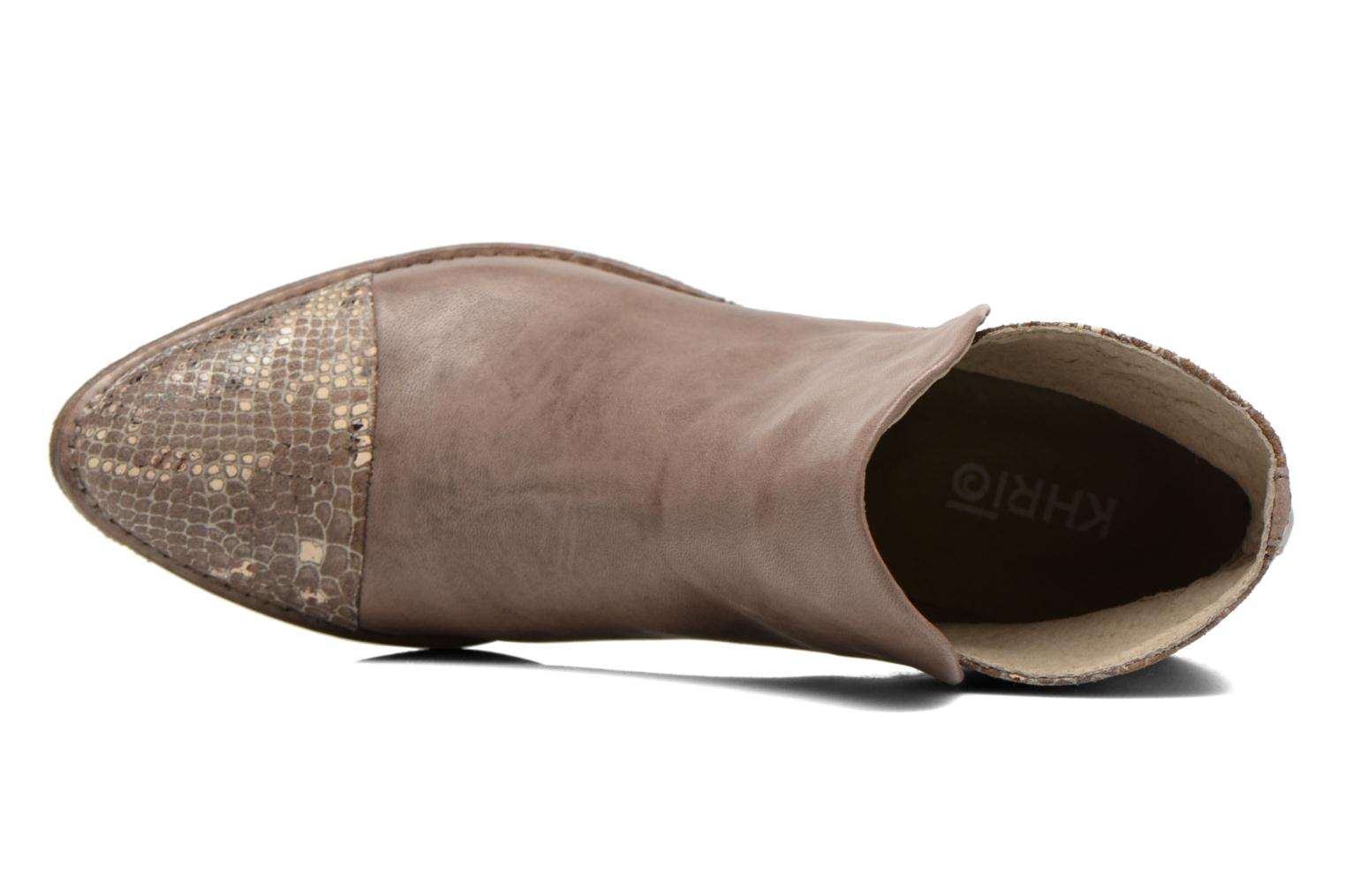 Ankle boots Khrio Cucuta Bronze and Gold view from the left