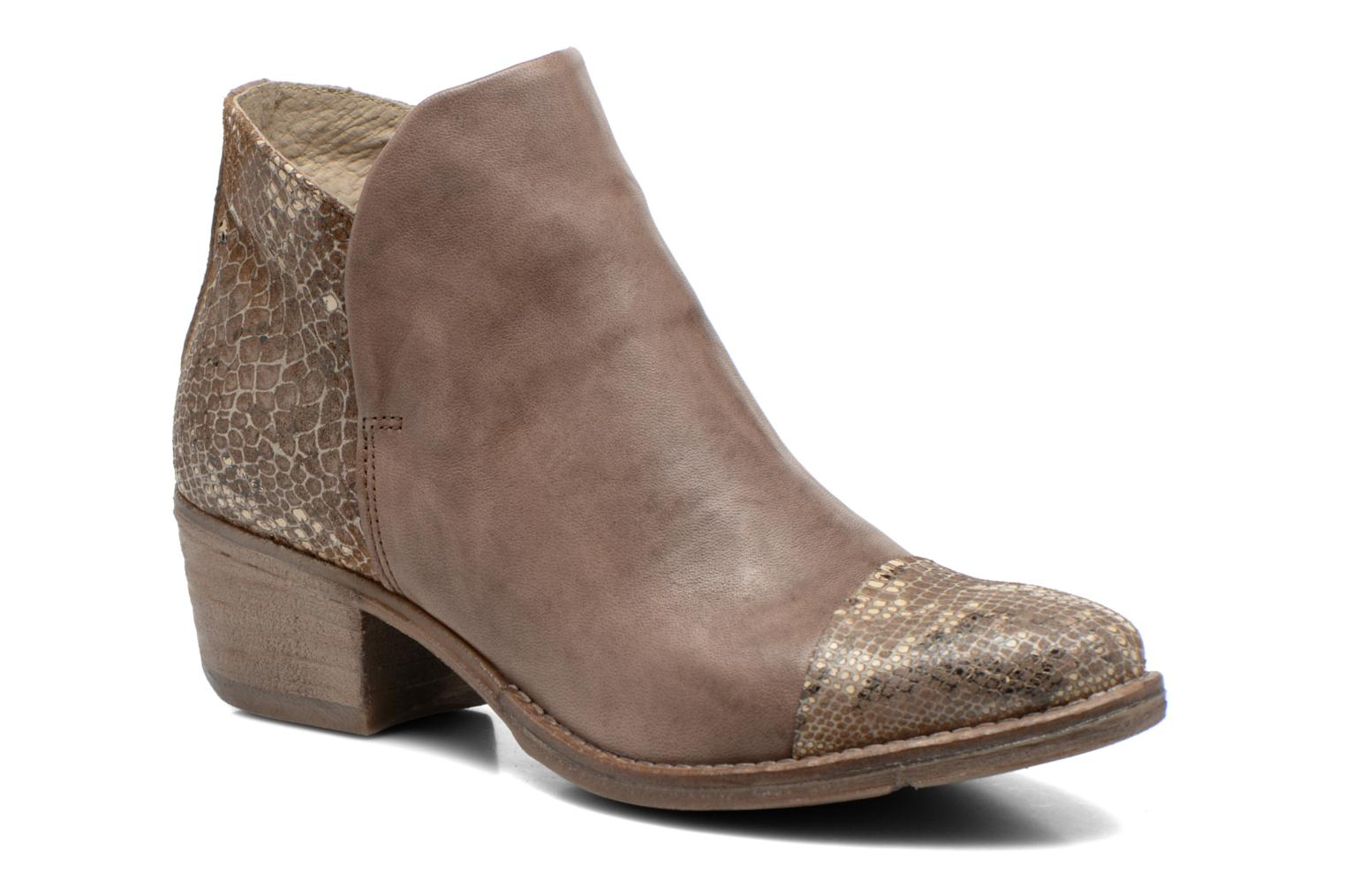 Ankle boots Khrio Cucuta Bronze and Gold detailed view/ Pair view