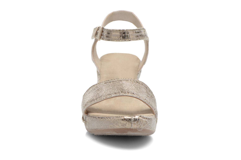 Sandales et nu-pieds Khrio Ibague Or et bronze vue portées chaussures
