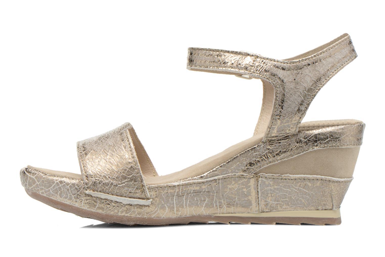 Sandales et nu-pieds Khrio Ibague Or et bronze vue face