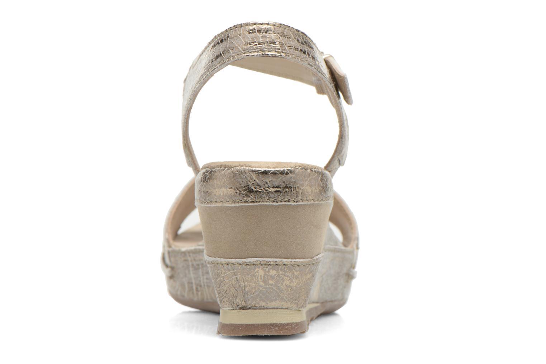 Sandales et nu-pieds Khrio Ibague Or et bronze vue droite