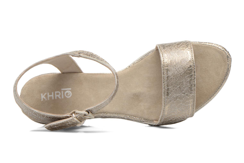 Sandales et nu-pieds Khrio Ibague Or et bronze vue gauche