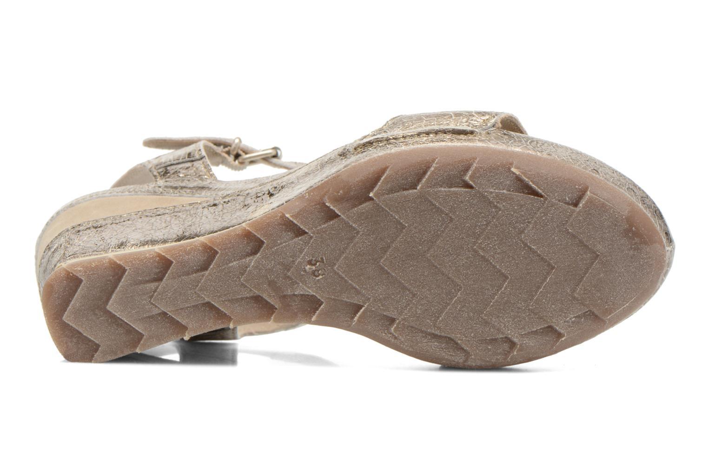 Sandales et nu-pieds Khrio Ibague Or et bronze vue haut