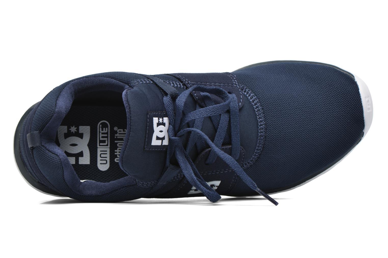Deportivas DC Shoes Heathrow Azul vista lateral izquierda