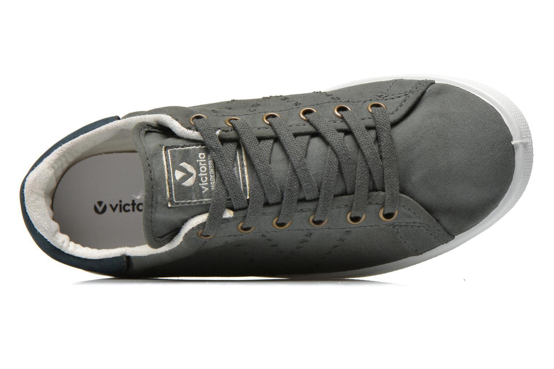 Sneakers Victoria Deportivo Basket Lona Tinta Grijs links
