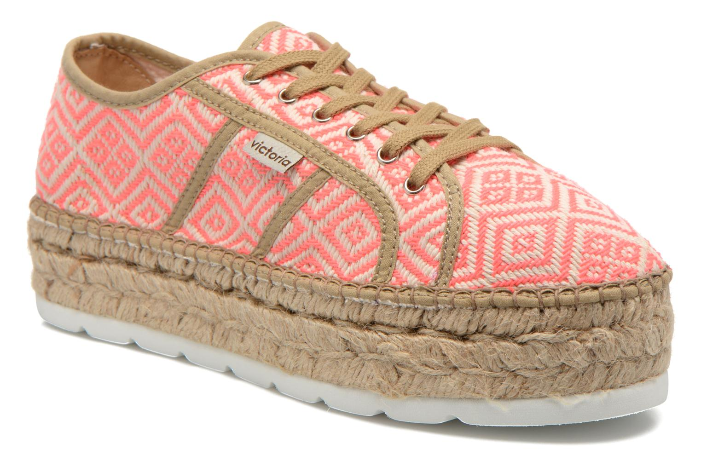 Grandes descuentos últimos zapatos Victoria Basket Etnico Plataforma Yu (Rosa) - Zapatos con cordones Descuento