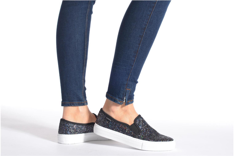 Sneakers Victoria Slip On Glitter Zwart onder