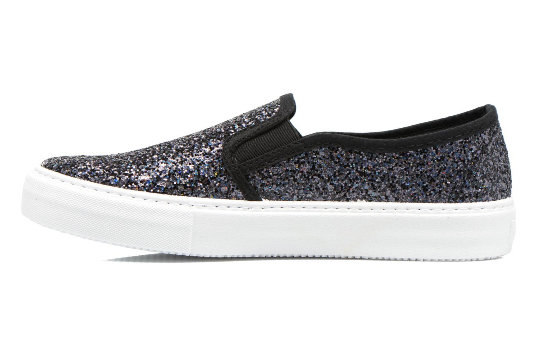 Sneakers Victoria Slip On Glitter Nero immagine frontale