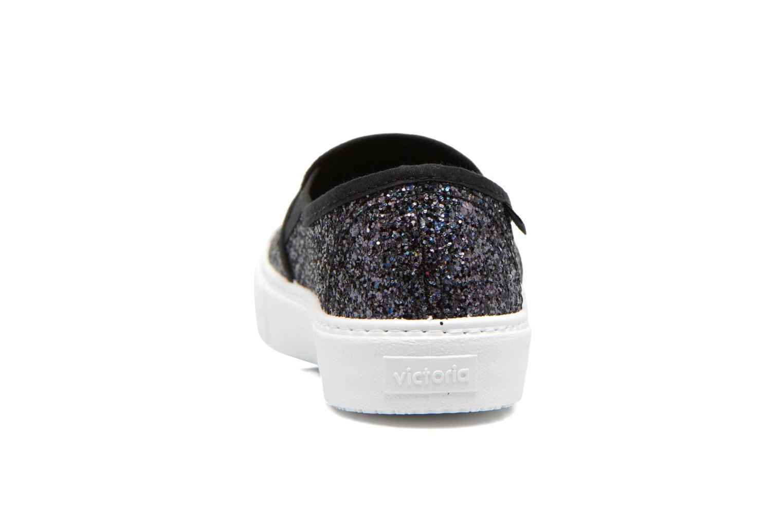Sneakers Victoria Slip On Glitter Zwart rechts
