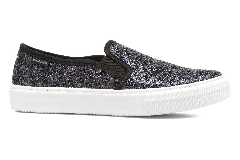 Sneakers Victoria Slip On Glitter Zwart achterkant