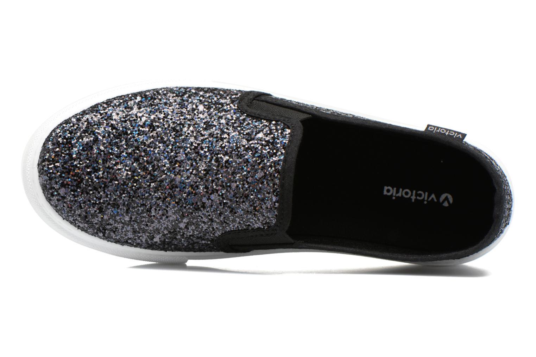 Sneakers Victoria Slip On Glitter Nero immagine sinistra