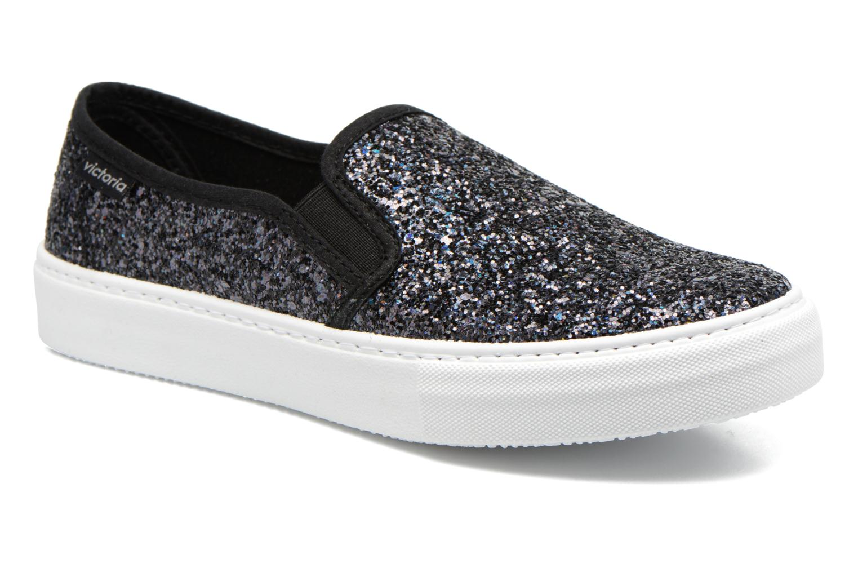 Sneakers Victoria Slip On Glitter Zwart detail