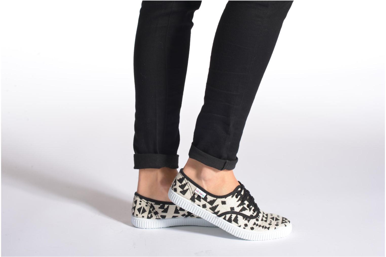 Sneakers Victoria Ingles Geometrico Lurex Nero immagine dal basso