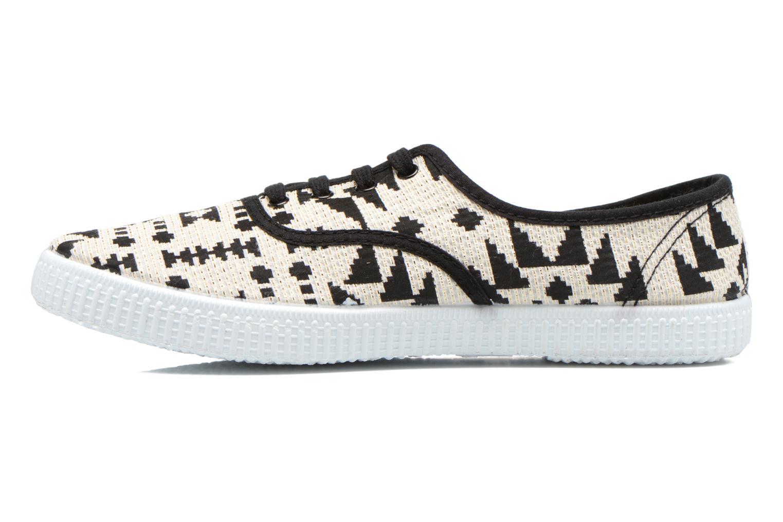 Sneakers Victoria Ingles Geometrico Lurex Nero immagine frontale