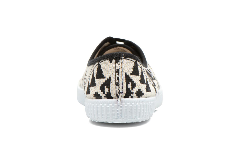 Sneakers Victoria Ingles Geometrico Lurex Nero immagine destra