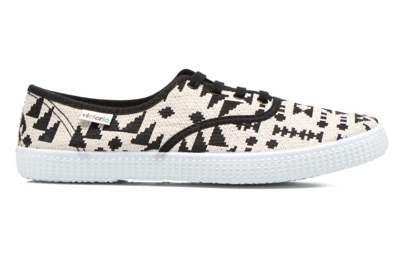 Sneakers Victoria Ingles Geometrico Lurex Nero immagine posteriore
