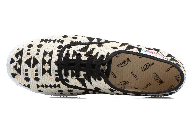 Sneakers Victoria Ingles Geometrico Lurex Nero immagine sinistra