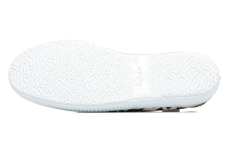 Sneakers Victoria Ingles Geometrico Lurex Nero immagine dall'alto