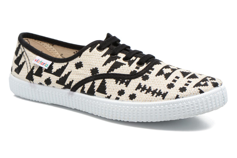 Sneakers Victoria Ingles Geometrico Lurex Nero vedi dettaglio/paio