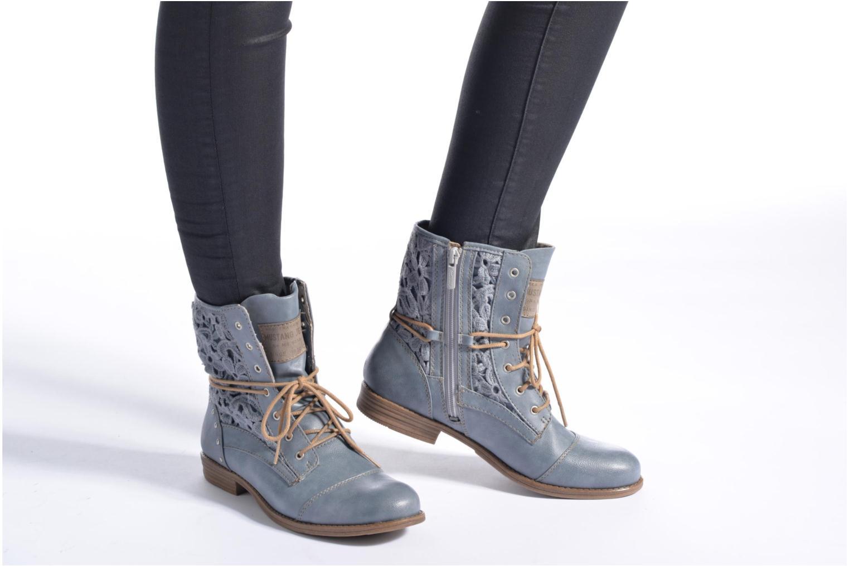 Bottines et boots Mustang shoes Freeze Bleu vue bas / vue portée sac